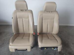 2007 2014 Ford Expedition Tan Leather Front Seats Driver Passenger