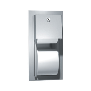 Asi 0031 Toilet Tissue Dispenser Twin Hide a roll Recessed p21