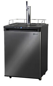 Kegco Kegerator Digital Beer Keg Dispenser Black Stainless 1 Tap D System
