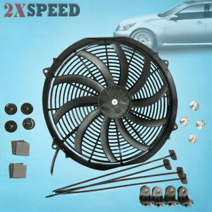16 Slim Electric Radiator Fan Pusher Puller 120w High Power 3200cfm 2100rpm New