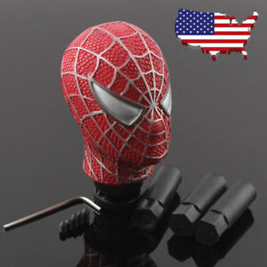 Red Spider Man Universal Car Resin Gear Stick Shift Manual Shifter Lever Knob Us