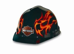 Harley davidson Rhdhhat10k Flames Hard Hat Safety Protective Construction Indust