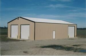 Steel Building 30x36x13 Simpson Steel Garage Kit Workshop Structure Barn