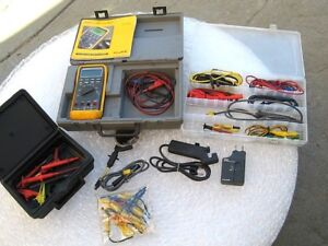 Fluke 88 Automotive Test Meter With Lots Of Extras Accessories