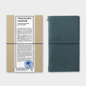 Traveler s Notebook Regular Size Blue Leather Cover Midori Japan 15239006