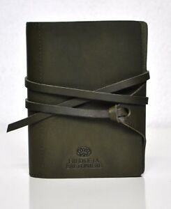 Succes Vintage Junior Olive Green Organiser Leather Time Planner Bretoniere