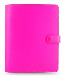 Filofax The Original A5 Fluoro Pink Diary Organiser With Calendar 022439