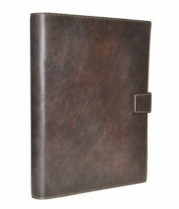 Succes Santino Writing Case A4 Brown Leather Conference Folder Organiser