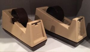 Lot Of 2 Scotch 3m C 25 C25 Tape Dispenser Heavy Duty Single Roll Model 28000