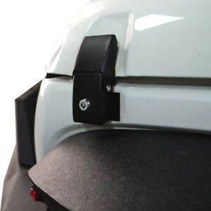 Black Aluminum Locking Hood Look Latches For Jeep Wrangler Jk Unlimited 07 18