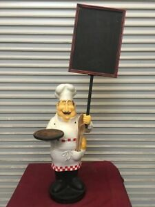 48 Chef Menu Stand Sign Statue 5525 Restaurant Specials Display Decor