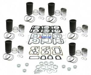 Fits Caterpillar 3406b Engine In Frame Overhaul Kit Piston 9y9889 New Oe 219350