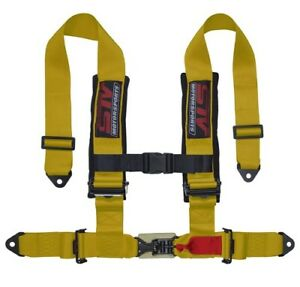 Stv Motorsports Universal Yellow 4 Point 2 Inch Straps Seat Belt Harness Upgrade