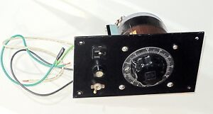 Superior Electric Powerstat Type 116bu Autotransformer Mount On Panel For Bench