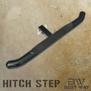 Universal 3 Inch Round Black Hitch Step Bumper Guard For Cabs With 2 Receiver