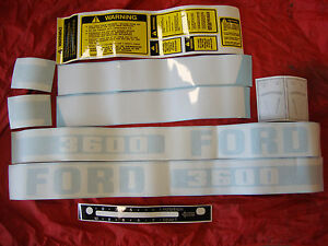 3600 Ford Tractor 3600 Decal Set 1975 1981 Diesel Complete High Quality