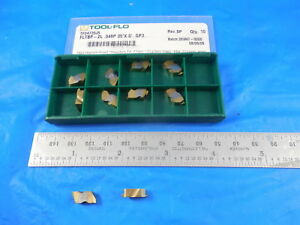 10 Pc New Tool Flo Tf24735 Fltbp 2l 048p 35 X 0 Gp3 Carbide Top Notch Inserts