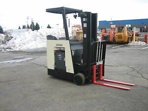 2006 Crown Dockstocker Forklift With 2012 Battery 3000 190 Lift side Shifter