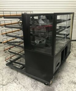 48 Dry Glass Bakery Display Case And 4 Wire Rack Marco 8045 Donut Bread Bagel