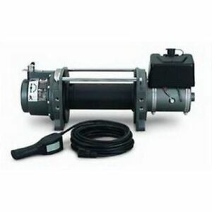 Warn 30282 Series 9 Industrial Hydraulic Winch 9 000 Lb 5 0 Cu In Motor