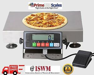 Ps 30pzs Portion Control Pizza Scale Bakery With Foot Tare 30 Lb X 0 1 Oz pan