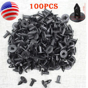 100x 8mm Hole Plastic Rivets For Suzuki Polaris Kawasaki Nissan Infinit Honda