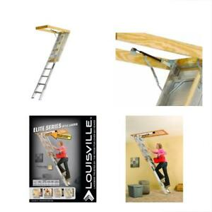 Louisville Extension Ladders Ladder Aa259gs Elite Aluminum Attic 350 Pound By To