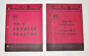 International Ih Td 9 Crawler Special Attachments Operators Manuals