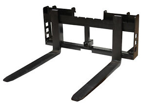 Titan Skid Steer 42 Pallet Fork Trailer Hitch Attachment Bobcat Case Used