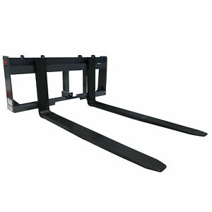 Made In The Usa 60 Pallet Fork Trailer Hitch Skid Steer Attachment Used