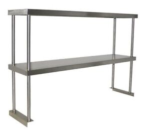 New 36 X 12 Double Over Shelf All Stainless Steel Nsf Storage 1177 Prep Table