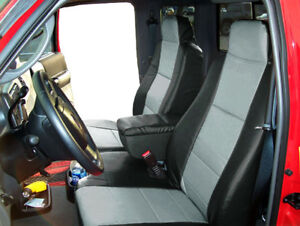 Ford Ranger 2010 2011 Black grey S leather Custom Front Seat Console Cover