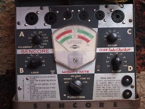 Sencore Mighty Mite Tc 109 Tube Checker With Manuals Quick Tested