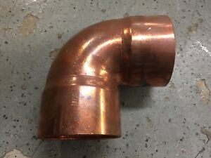 3 Copper 90 Elbow Solder Plumbing Pipe Fitting