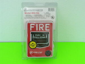 New Honeywell Fire lite Bg 12l Manual Dual Action Fire Alarm Pull Station