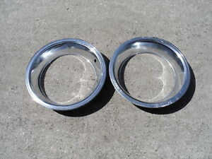 Original 15 X 7 Rally Wheel Trim Rings 426 Hemi Six Pack Shaker Hood Go Wing