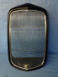 1932 Ford Steel Smooth Grille Shell With Stainless Insert 32 Rod Rat Rod Coupe