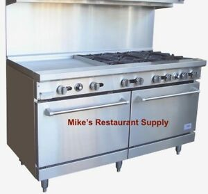 New 60 Griddle Top Range Double Gas Ovens Stratus Sr g60 Ng 7236 Commercial
