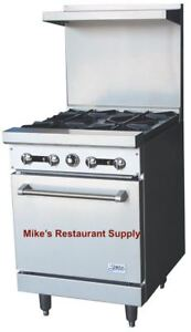 New 24 4 Burner Range With Gas Oven Stratus Sr 4 7224 Commercial Cook Stove