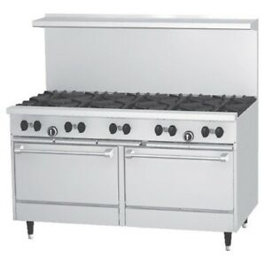 New 60 10 Burner Range Oven Gas Or Lp Stratus Sr 10 7231 Commercial Restaurant