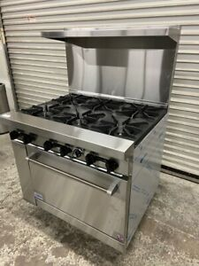 New 36 6 Burner Range With Gas Oven Stratus Sr 6 Ng 7227 Commercial Stove