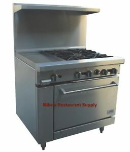 New 36 4 Burner 12 Griddle Range Gas Oven Stratus Sr4g12 Ng 7228 Commercial