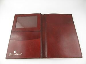 J203 etienne Aigner Small Writing Case Document Folder Real Leather