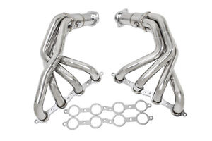 Manzo Stainless Steel Exhaust Header X Pipe Fits Corvette 05 13 C6 6 0l 6 2l V8