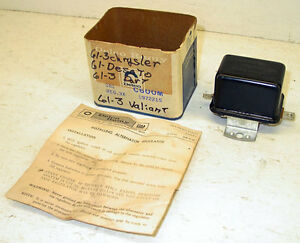 Nos 1961 1962 1963 Chrysler Desoto Dodge Dart Plymouth Valiant Voltage Regulator