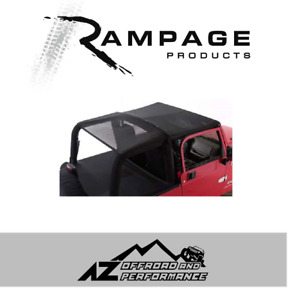 Rampage Combo Brief Topper Black Mesh Fits 1997 2006 Jeep Wrangler Tj 94301