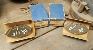 Nos Pair 1949 53 Chevy Commercial Utility Truck Gm ac Oil Pressure Gauge 1507401