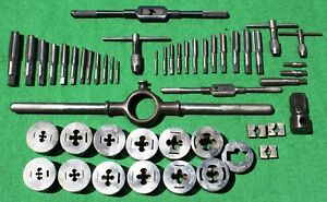 Vintage Greenfield Little Giant Tap And Die Set With Extras Approx 50 Pieces