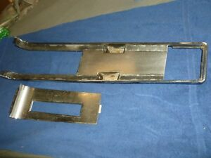 1967 Ford Mustang Floor Console Auto Trans Top Bezel And Shifter Bezel Plate 67
