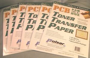 Pcb Fab In A Box Ttp Toner Transfer Paper 6 Lots 60 Sheets Total